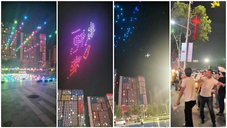 Drones Fall From The Sky During A Failed Light Show In China.
